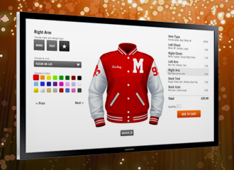 Create your own varsity jacket using the Jacket Designer