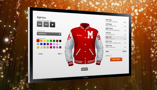 design your own varsity jacket with CustomVarsity using the jacket designer